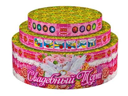 """Изображение Батарея салютов  """"Свадебный торт """""""