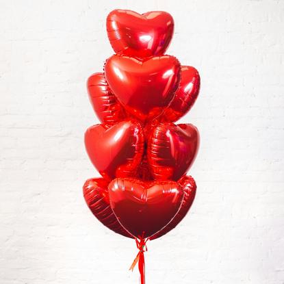 """Набор фольгированных шаров """"Сердца"""""""