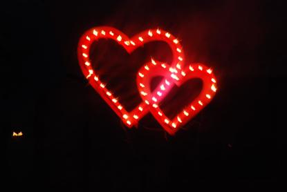 Изображение Сердца двойные пиротехнические